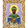 Святой Царь Николай Канва с рисунком для вышивки бисером Божья Коровка 0065