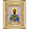 В рамке Святой Царь Николай Канва с рисунком для вышивки бисером Божья Коровка 0065