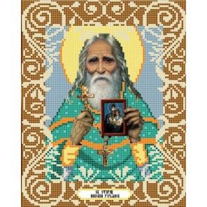 Святой старец Николай Гурьянов Канва с рисунком для вышивки бисером Божья Коровка 0064