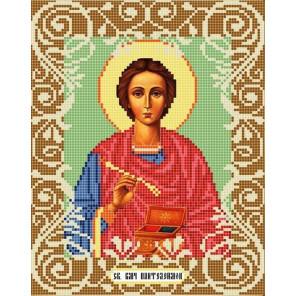Святой Целитель Пантелеймон Канва с рисунком для вышивки бисером Божья Коровка 0063