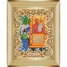 В рамке Богородица Нечаянная радость Канва с рисунком для вышивки бисером Божья Коровка 0062