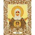 Богородица Знамение Канва с рисунком для вышивки бисером Божья коровка