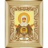 В рамке Богородица Знамение Канва с рисунком для вышивки бисером Божья Коровка 0061