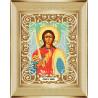 В рамке Архангел Михаил Канва с рисунком для вышивки бисером Божья Коровка 0060