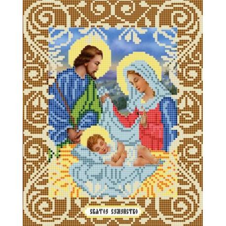 Святое семейство Канва с рисунком для вышивки бисером Божья Коровка 0059