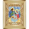 В рамке Святое семейство Канва с рисунком для вышивки бисером Божья Коровка 0059
