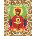 Богородица Неупиваемая Чаша Канва с рисунком для вышивки бисером Божья коровка