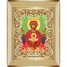В рамке Богородица Неупиваемая Чаша Канва с рисунком для вышивки бисером Божья Коровка 0058