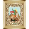 В рамке Святой Георгий Победоносец Канва с рисунком для вышивки бисером Божья Коровка 0056
