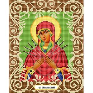 Богородица Семистрельная Канва с рисунком для вышивки бисером Божья Коровка 0054