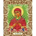Богородица Семистрельная Канва с рисунком для вышивки бисером Божья коровка