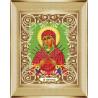 В рамке Богородица Семистрельная Канва с рисунком для вышивки бисером Божья Коровка 0054