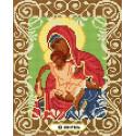 Богородица Милостливая Канва с рисунком для вышивки бисером Божья коровка