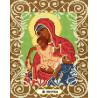 Богородица Милостливая Канва с рисунком для вышивки бисером Божья Коровка 0053