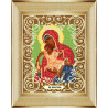В рамке Богородица Милостливая Канва с рисунком для вышивки бисером Божья Коровка 0053