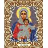Богородица Леушинская Канва с рисунком для вышивки бисером Божья Коровка 0052