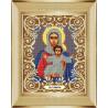 В рамке Богородица Леушинская Канва с рисунком для вышивки бисером Божья Коровка 0052
