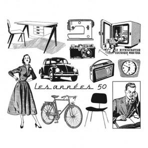 В 1950-ые Набор прозрачных штампов Aladine