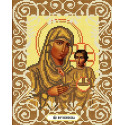 Богородица Иерусалимская Канва с рисунком для вышивки бисером Божья коровка