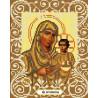 Богородица Иерусалимская Канва с рисунком для вышивки бисером Божья Коровка 0051
