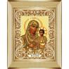 В рамке Богородица Иерусалимская Канва с рисунком для вышивки бисером Божья Коровка 0051