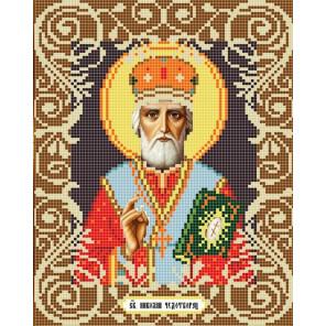 Святой Николай Канва с рисунком для вышивки бисером Божья Коровка 0050