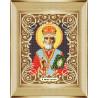 В рамке Святой Николай Канва с рисунком для вышивки бисером Божья Коровка 0050