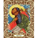 Святой Иоанн Богослов Канва с рисунком для вышивки бисером Божья коровка