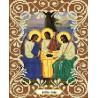 Святая Троица Канва с рисунком для вышивки бисером Божья Коровка 0047