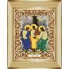 В рамке Святая Троица Канва с рисунком для вышивки бисером Божья Коровка 0047