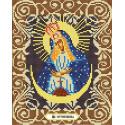 Богородица Остробрамская Канва с рисунком для вышивки бисером Божья коровка