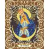 Богородица Остробрамская Канва с рисунком для вышивки бисером Божья Коровка 0046