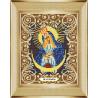 В рамке Богородица Остробрамская Канва с рисунком для вышивки бисером Божья Коровка 0046