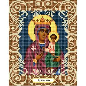 Богородица Юровичская Канва с рисунком для вышивки бисером Божья Коровка 0045
