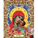 Богородица Корсунская Канва с рисунком для вышивки бисером Божья коровка
