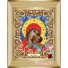 В рамке Богородица Корсунская Канва с рисунком для вышивки бисером Божья Коровка 0044