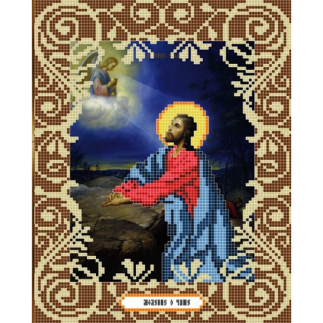 Моление о чаше Канва с рисунком для вышивки бисером Божья Коровка 0043