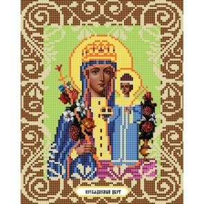 Богородица Неувядаемый цвет Канва с рисунком для вышивки бисером Божья Коровка 0042