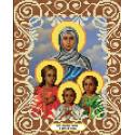 Вера, Надежда, Любовь и мать их София Канва с рисунком для вышивки бисером Божья коровка