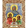 Вера, Надежда, Любовь и мать их София Канва с рисунком для вышивки бисером Божья Коровка 0041