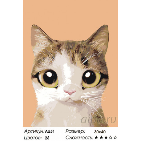 Количество цветов и сложность Мурзик Раскраска по номерам на холсте Живопись по номерам A551