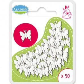 Бабочки белые Брадсы для украшения Aladine