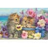 Милые котята Раскраска по номерам на холсте Molly KH0315