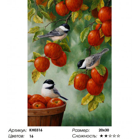 Количество цветов и сложность Яблоневый сад Раскраска по номерам на холсте Molly KH0316