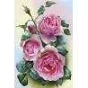 Розовые розы Раскраска по номерам на холсте Molly KH0320