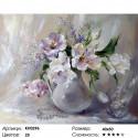 Белые тюльпаны Раскраска по номерам на холсте Molly