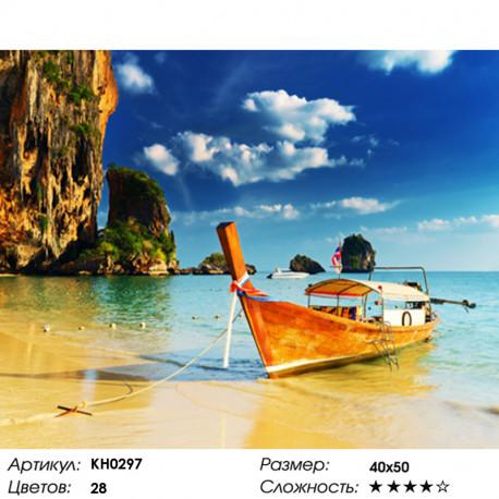 Количество цветов и сложность Таиланд. О. Пхи-пхи Раскраска по номерам на холсте Molly KH0297