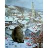 Кот на крыше Раскраска по номерам на холсте Molly KH0298