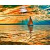 Заход солнца Раскраска по номерам на холсте Molly KH0299