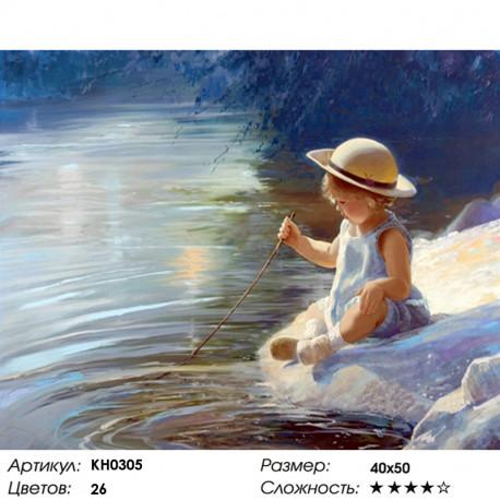 Количество цветов и сложность На берегу реки Раскраска по номерам на холсте Molly KH0305